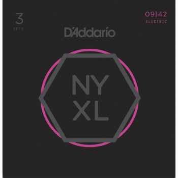 D´addario NYXL0942 Super Light cuerdas para guitarra eléctrica Pack 3 juegos